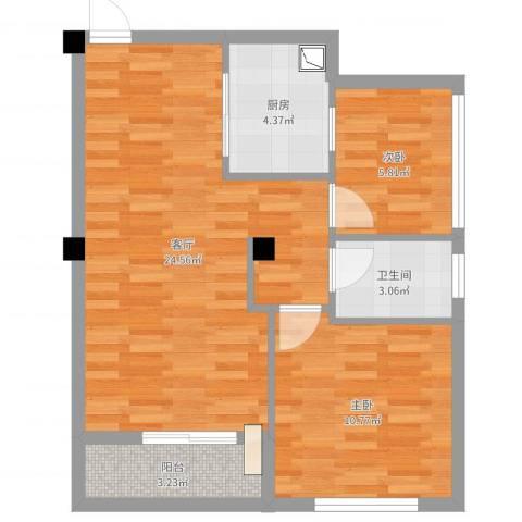 光谷麦郡2室1厅1卫1厨65.00㎡户型图