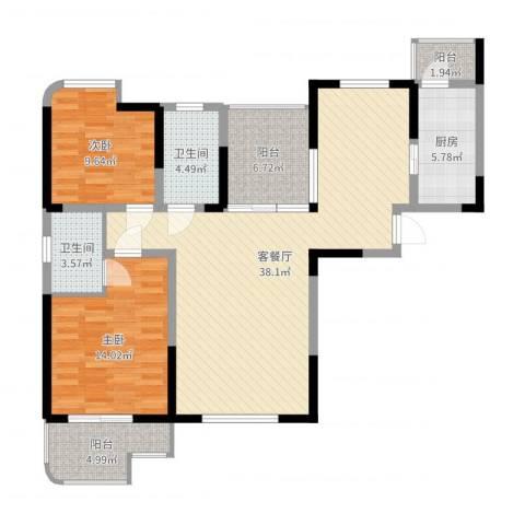 融侨城2室2厅2卫1厨112.00㎡户型图