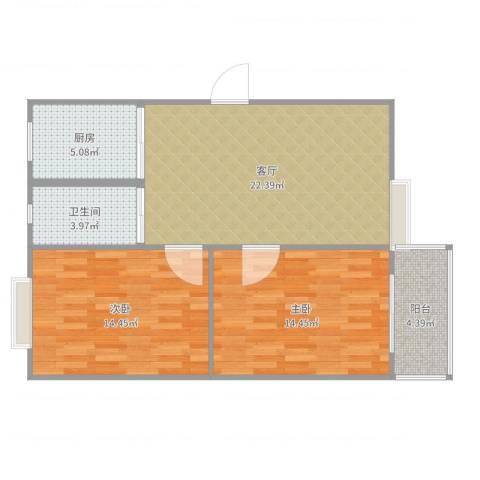 东景花园782室1厅1卫1厨81.00㎡户型图