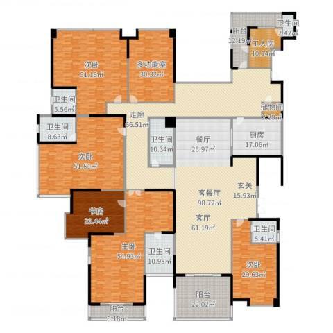 龙泉豪苑5室2厅6卫1厨650.00㎡户型图