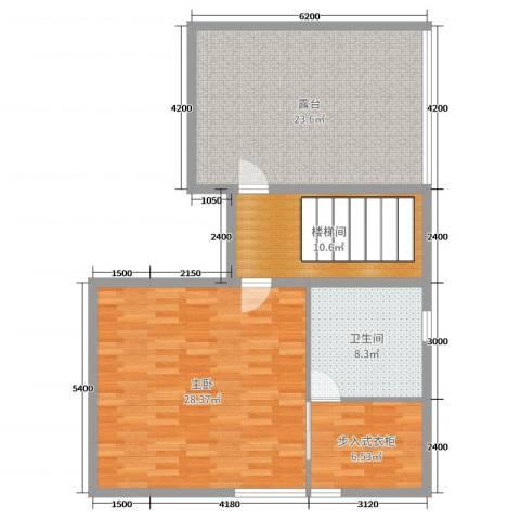 正源尚峰尚水1室0厅1卫0厨284.00㎡户型图
