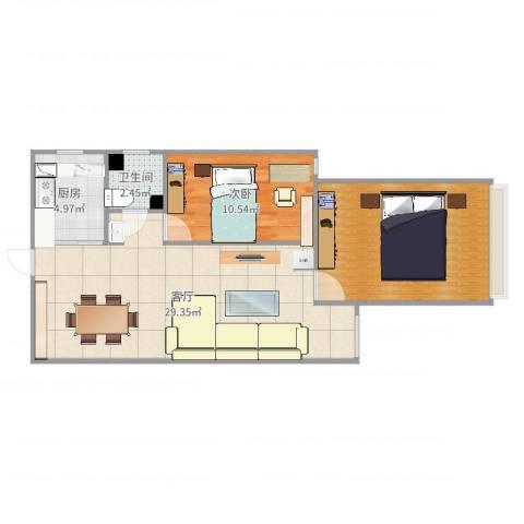 龙泉花园1室1厅1卫1厨80.00㎡户型图