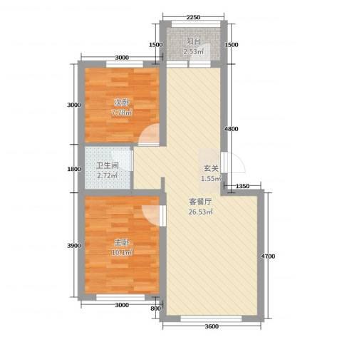 盈胜三千院2室2厅1卫0厨69.00㎡户型图