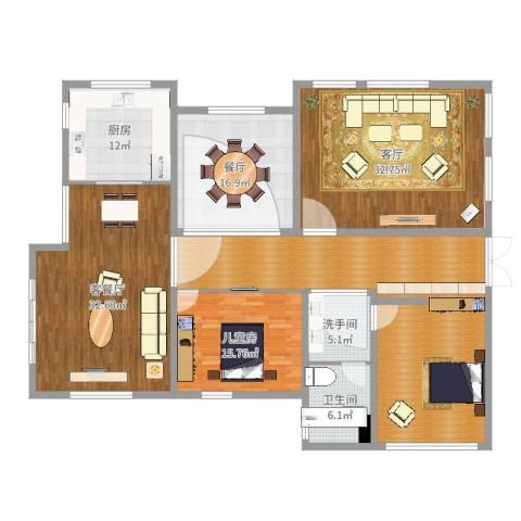 保利林语溪别墅1室4厅1卫1厨203.00㎡户型图