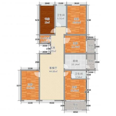 华丽家族5室2厅2卫1厨191.00㎡户型图