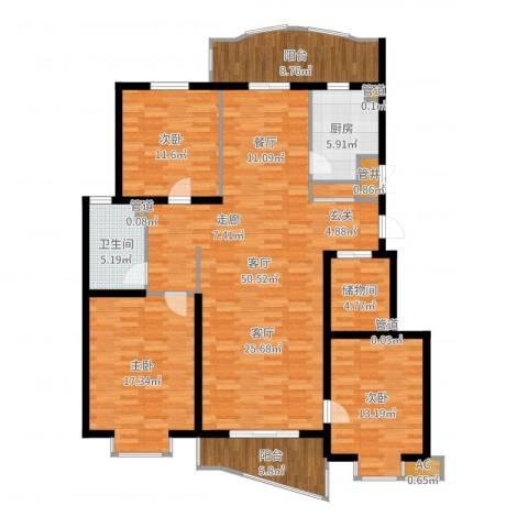 北京太阳城3室1厅1卫1厨157.00㎡户型图