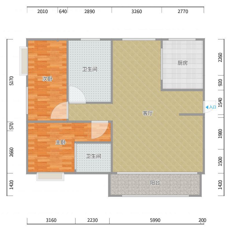 南约(南景新村)100平方设计草图