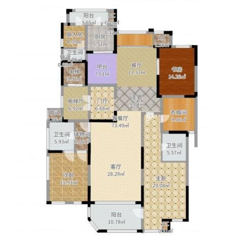 海珀兰轩3室2厅3卫1厨251.00㎡户型图