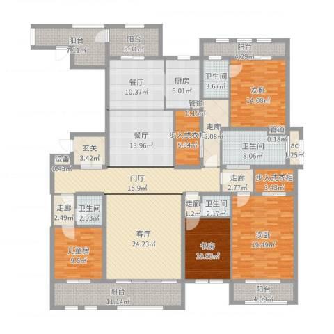 巨凝金水岸4室3厅4卫1厨248.00㎡户型图