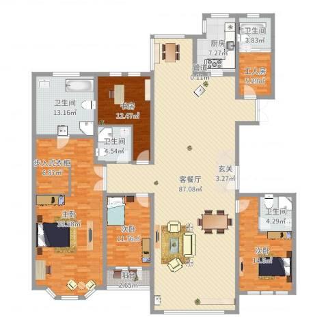 青宾5号院4室2厅4卫1厨257.00㎡户型图