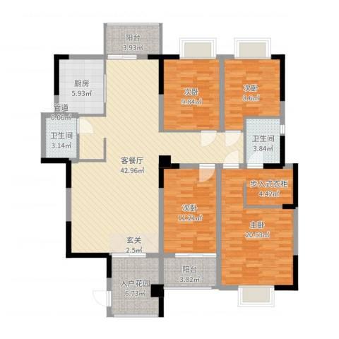 禾祥观斓4室2厅2卫1厨151.00㎡户型图