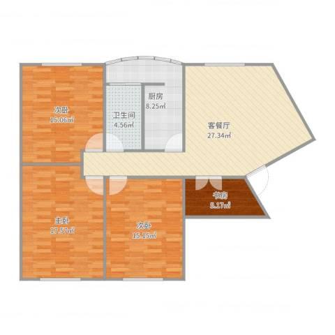 东安公寓1号4室2厅1卫1厨116.00㎡户型图