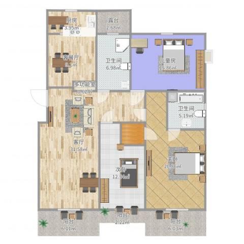 横店翡翠苑3室3厅2卫1厨139.00㎡户型图