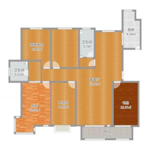建投・御河新城2室2厅2卫1厨205.00㎡户型图