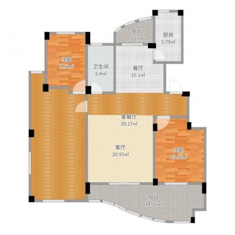 丁香花园2室2厅1卫1厨149.00㎡户型图