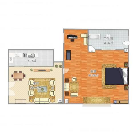 西班牙名园1室1厅1卫1厨196.00㎡户型图