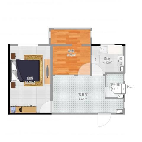 裕中西里27号楼2室2厅1卫1厨51.00㎡户型图
