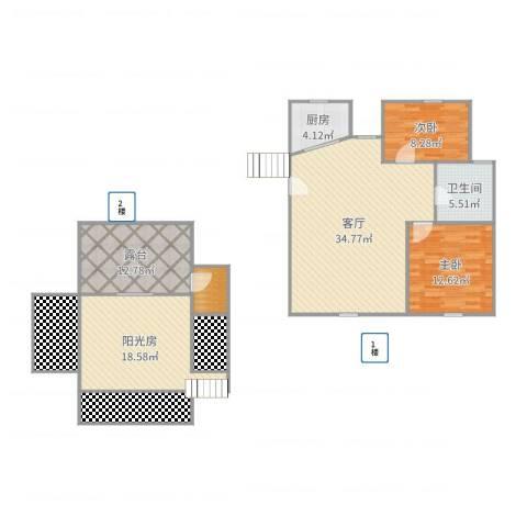银都一村(闸北)2室1厅1卫1厨141.00㎡户型图
