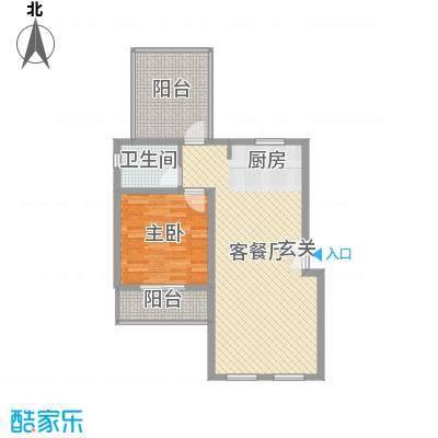 万泰・滨湖新城67.24㎡户型1室1厅1卫1厨