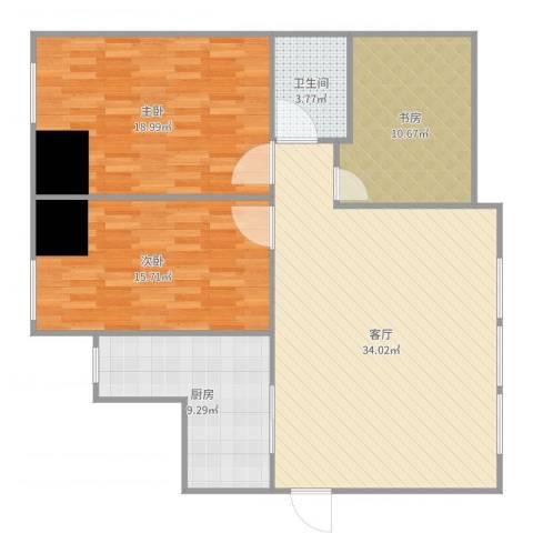 西吴御龙庭3室1厅1卫1厨116.00㎡户型图
