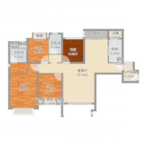 仁恒滨海半岛4室2厅2卫1厨149.00㎡户型图