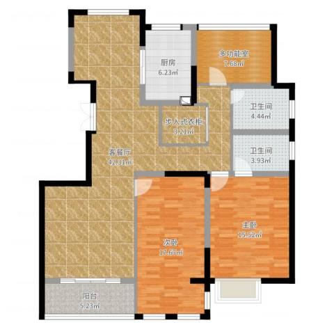 金坛金水湾2室2厅2卫1厨133.00㎡户型图