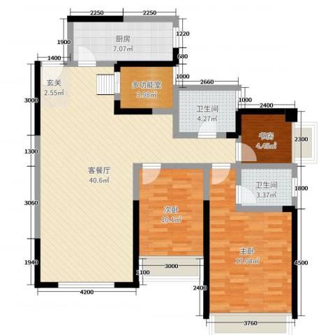 连城别苑四期3室2厅2卫1厨199.00㎡户型图