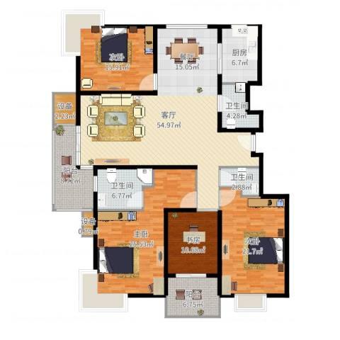 马陆清水湾公寓4室1厅3卫1厨210.00㎡户型图
