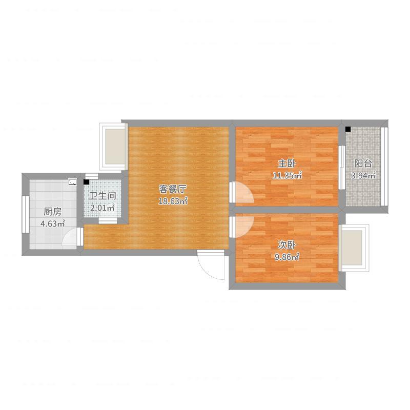 酷2和兴家园67m²