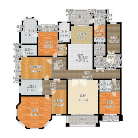 荣禾曲池东岸3室1厅6卫1厨408.00㎡户型图