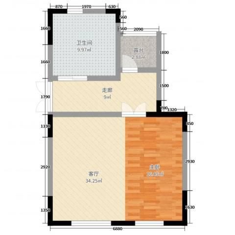 泰禾厦门院子1厅1卫0厨270.00㎡户型图