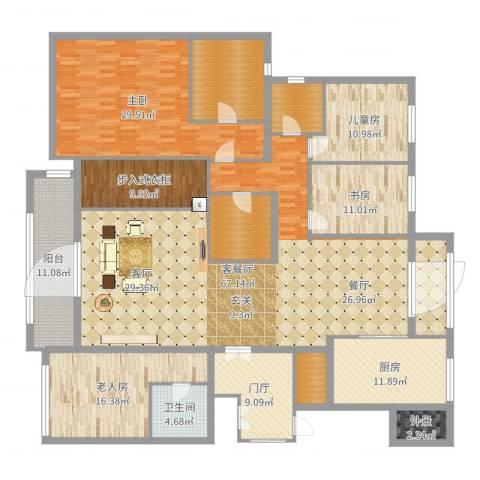 九龙仓雅戈尔铂翠湾4室2厅1卫1厨264.00㎡户型图