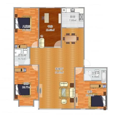 宽城国际9#C4室2厅2卫1厨175.00㎡户型图