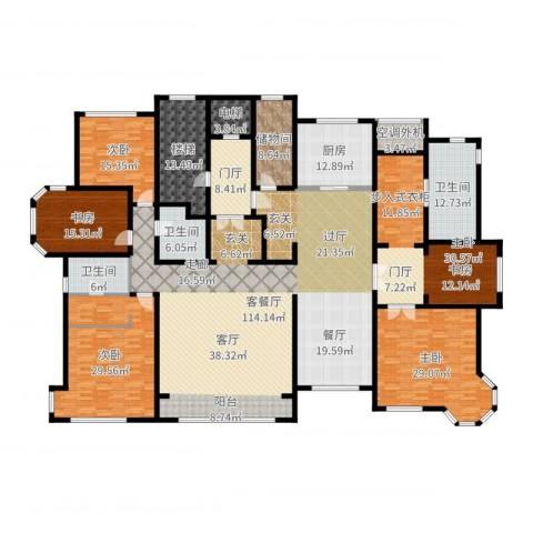 华润公元九里5室2厅3卫1厨387.00㎡户型图