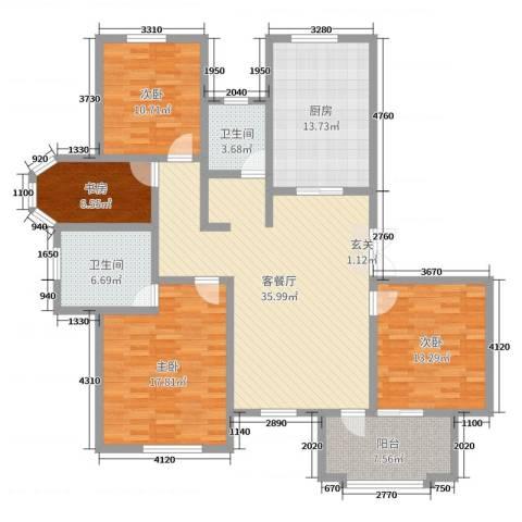 东方世纪城4室2厅2卫1厨146.00㎡户型图