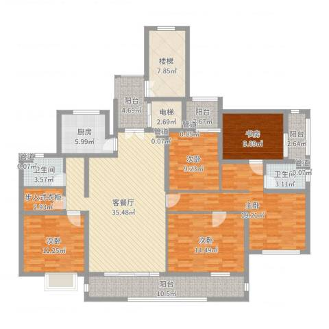 国信慧谷山居5室2厅2卫1厨182.00㎡户型图