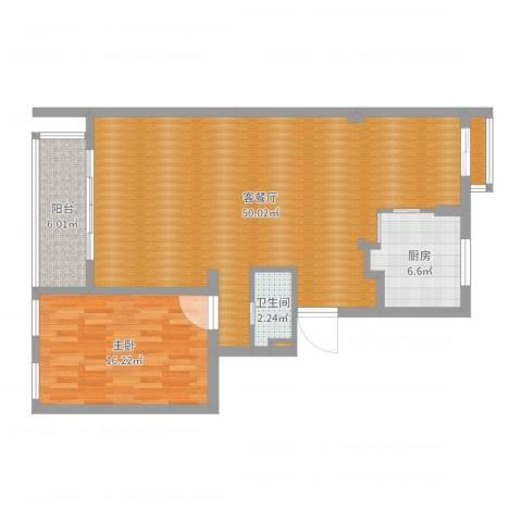 lzhty1室2厅1卫1厨103.00㎡户型图