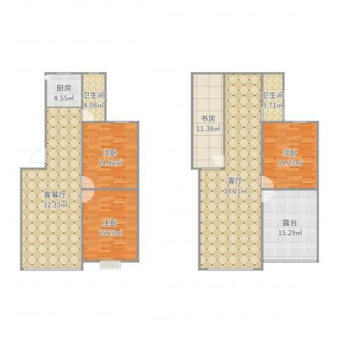 和谐家园4室3厅2卫1厨154.00㎡户型图