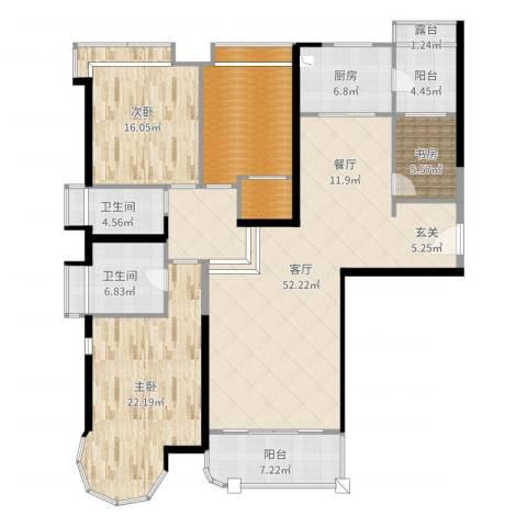 合生滨海城3室1厅2卫1厨178.00㎡户型图