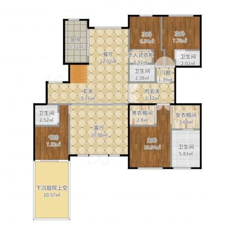 远洋天著春秋4室1厅4卫1厨144.00㎡户型图