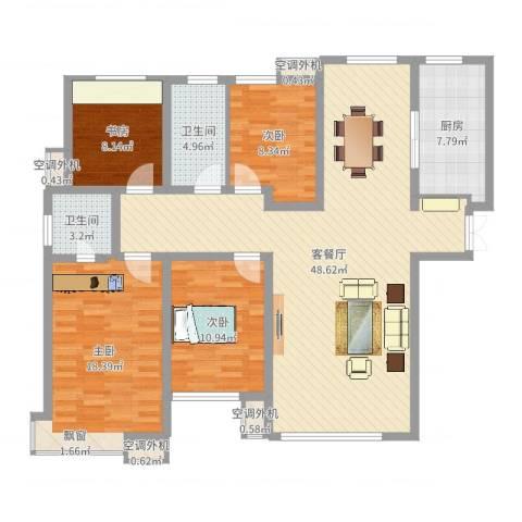 和润香堤4室2厅6卫1厨141.00㎡户型图