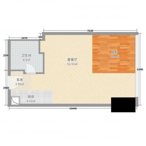 苏宁广场2厅1卫0厨70.00㎡户型图