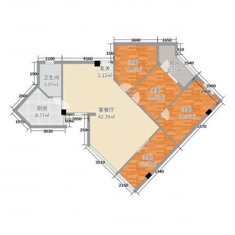 馨怡花苑4室2厅1卫1厨127.00㎡户型图