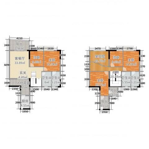 青春5室2厅4卫1厨213.00㎡户型图