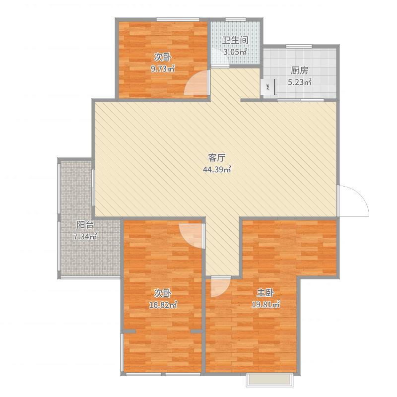 大观园贤林苑F户型135平方米装修方案