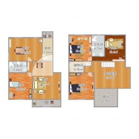 华高苑复式4室2厅2卫1厨285.00㎡户型图
