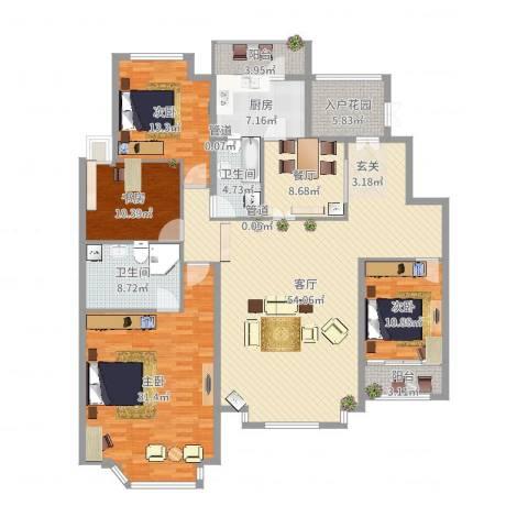 曼哈顿国际庄园4室2厅2卫1厨203.00㎡户型图