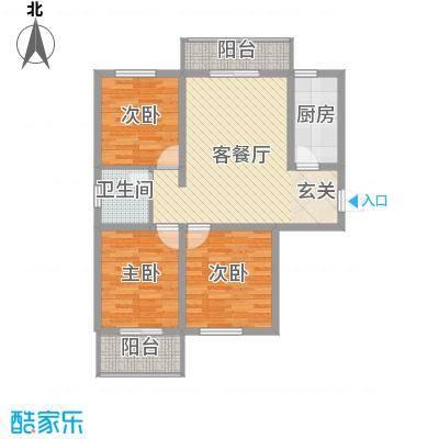 正基小镇102.64㎡QQ截图20120711090756户型3室3厅1卫1厨