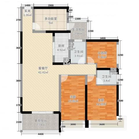 天峦湖2室2厅2卫1厨113.26㎡户型图