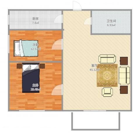 泉水锦泉源2室1厅1卫1厨115.00㎡户型图